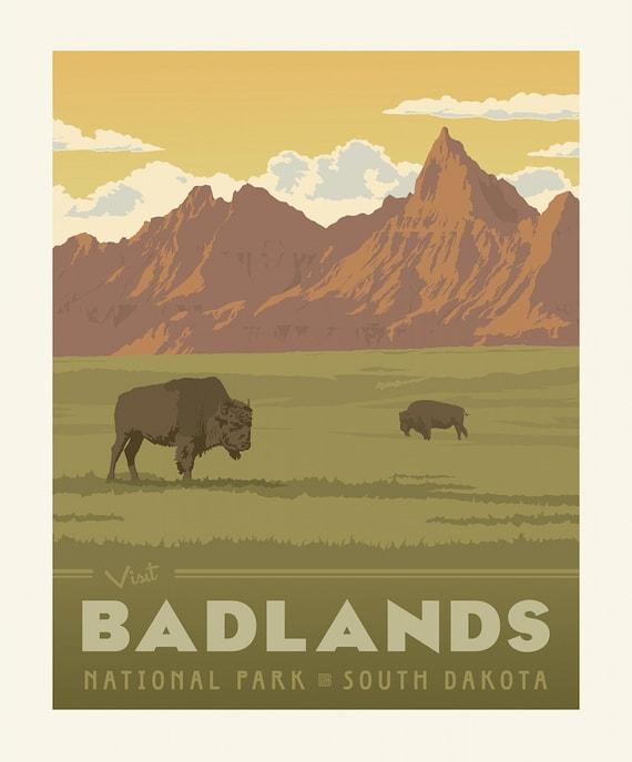 Badlands National Parks Panel 1 Yard Panel