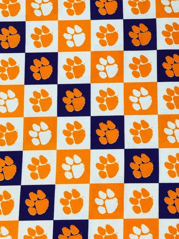 Clemson Tigers Logo Fabric