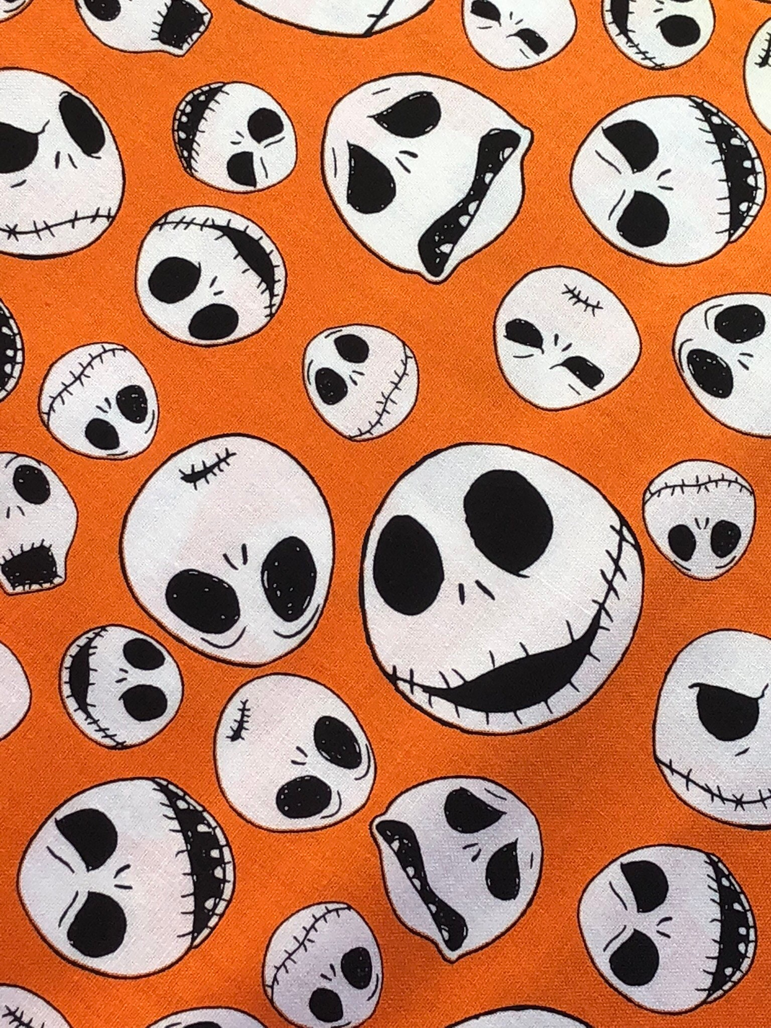 NEW Nightmare Before Christmas Jack Faces Fabric by the yard
