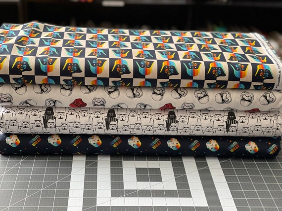 Star Wars Darth Vader & Storm Troopers Theme Fabric by various lengths, You choose the print.