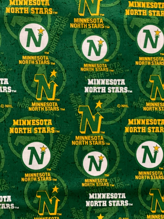 Minnesota North Stars Fabric, North Stars Hockey Fabric, NHL Fabric in various lengths