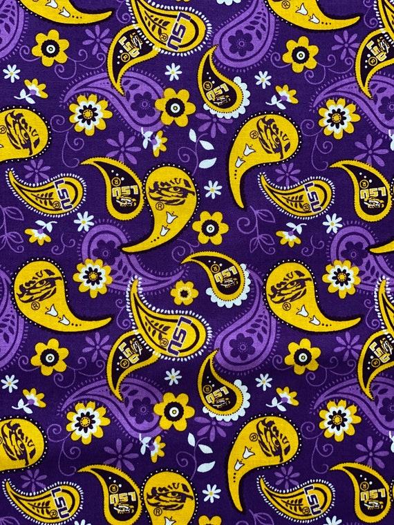 LSU Paisley Fabric