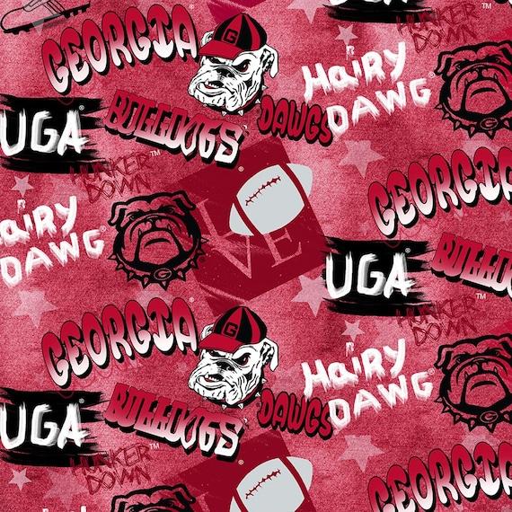 Georgia Bulldogs Graffiti Fabric