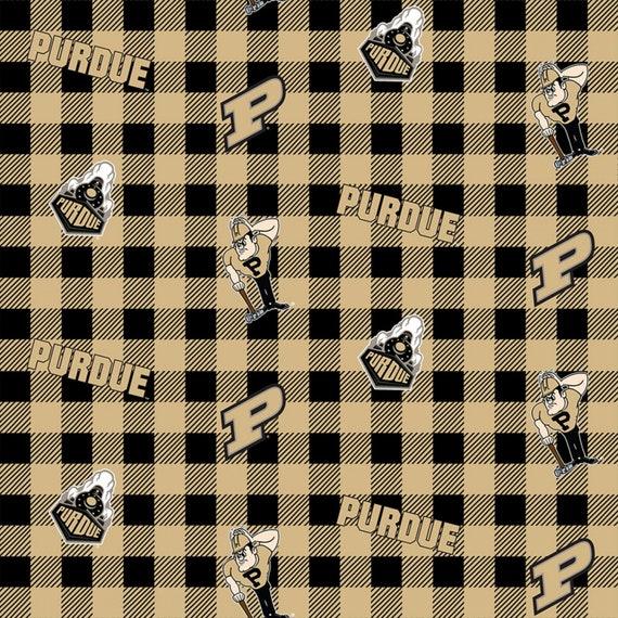 Purdue University Plaid Fabric