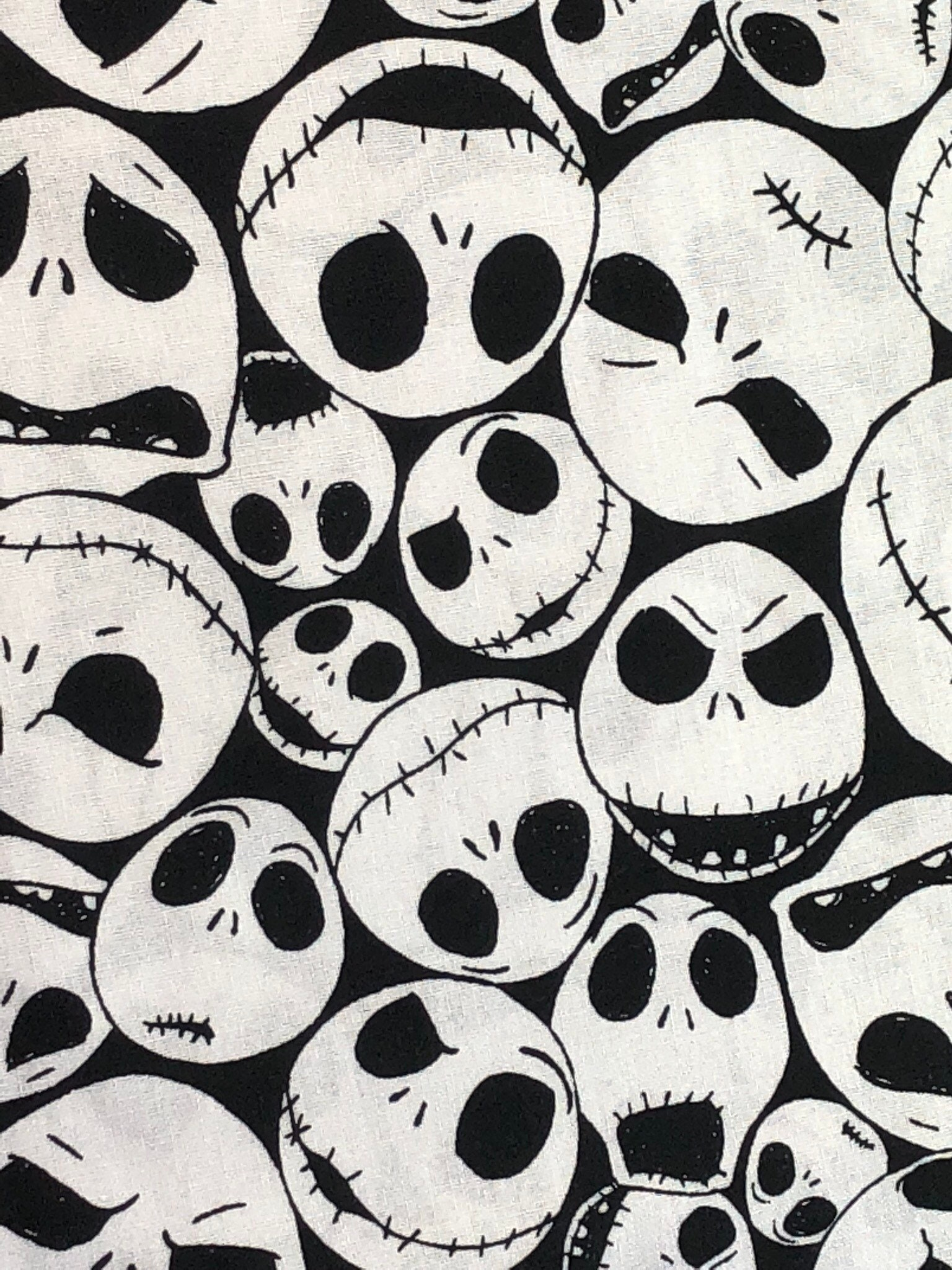 NEW Disney Nightmare Before Christmas Tossed Fabric by the yard and ...