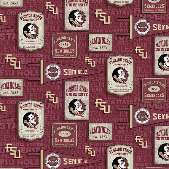 Florida State University Flag & Posters Fabric