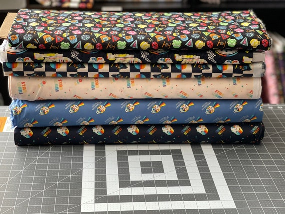 Star Wars Retro Theme Fabric by the yard and other various lengths, You Choose The Print
