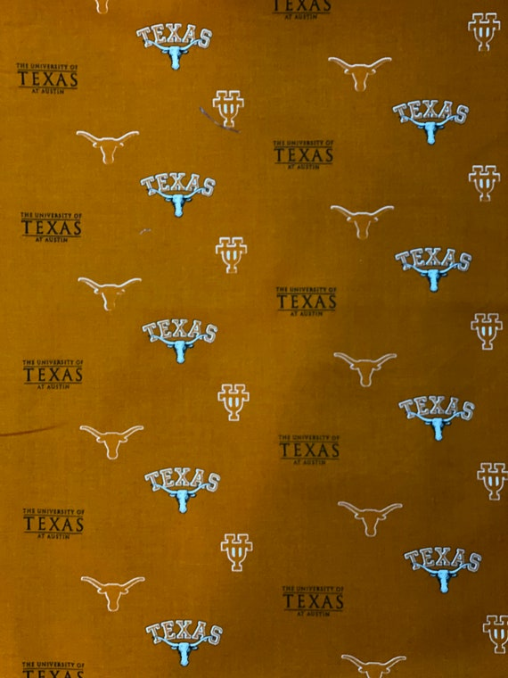 Texas Longhorns Flat 100% cotton fabric by various lengths