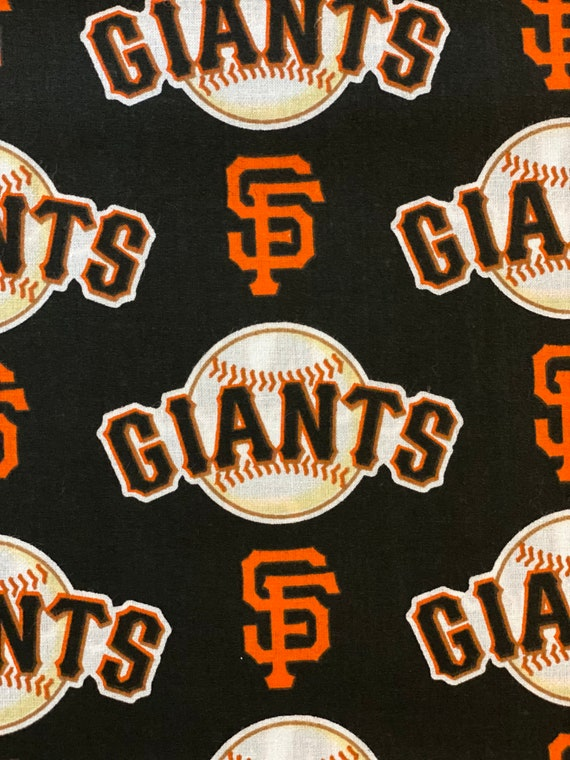 """San Francisco Giants Fabric, SF Giants Fabric, MLB Fabric in various lengths by 59"""" width"""
