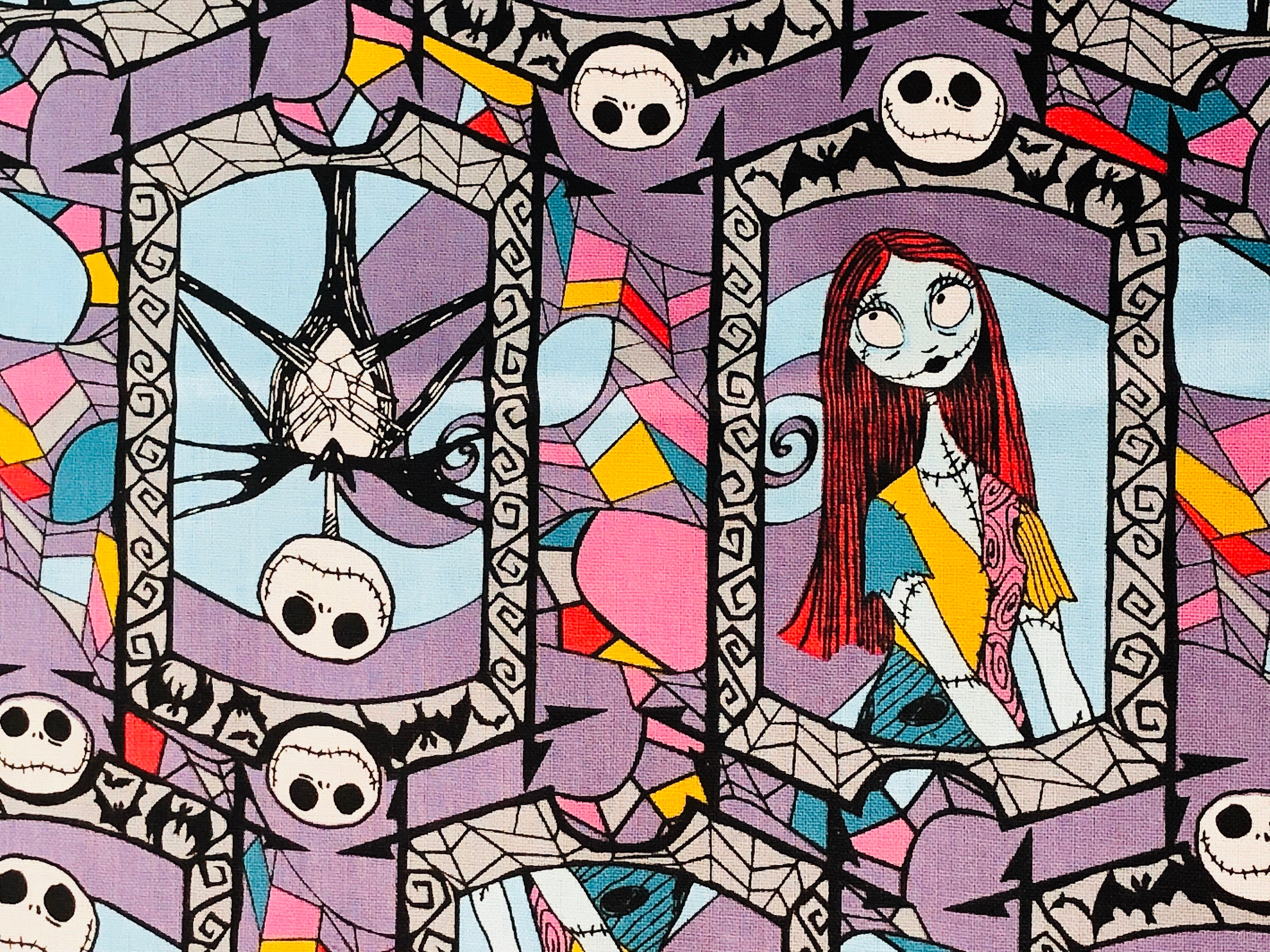 Disney Nightmare Before Christmas Jack Sally Stained Glass By The Yard