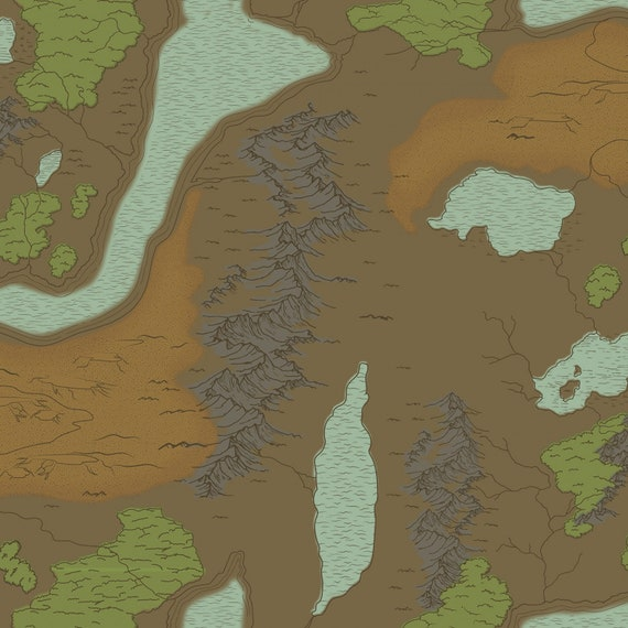 National Parks Map Brown Fabric