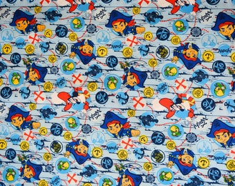 Jake and the Neverland Pirates Fabric Featuring Captain Jake and Captain Hook