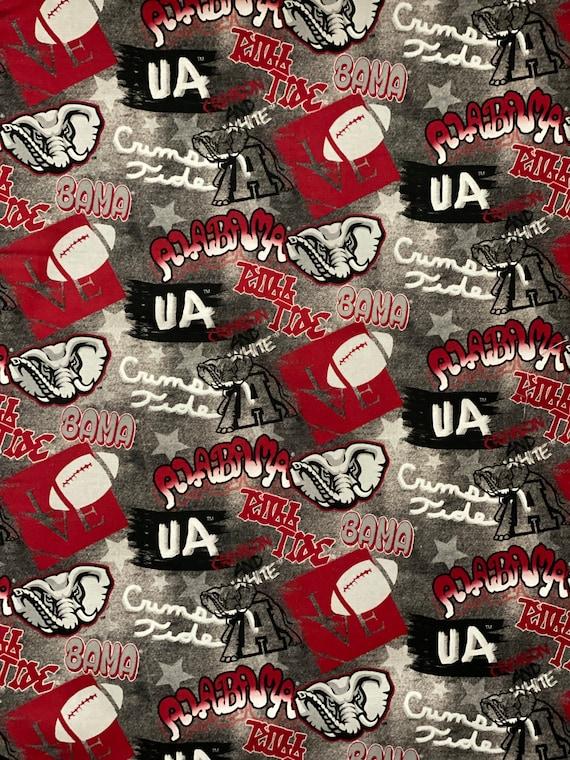 Alabama Crimson Tide Graffiti Style Fabric