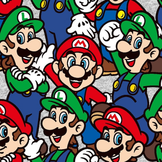 Pre-Order Nintendo Super Mario & Lugi Packed Fabric by various lengths, This will not ship until April 2021