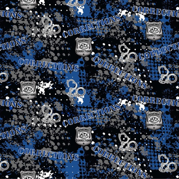 Corrections Officers Theme Fabric