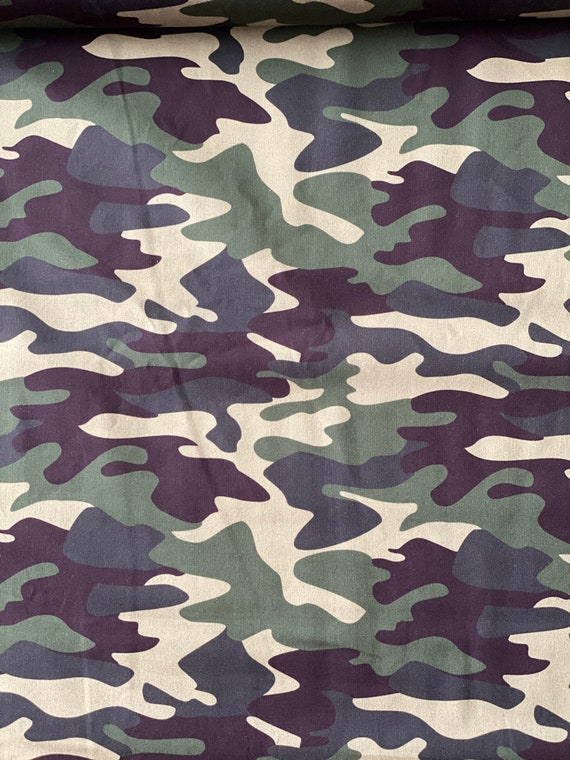 Camo Green Fabric