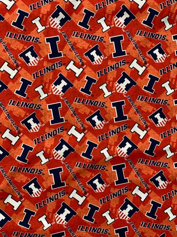 University of Illinois Toss Fabric