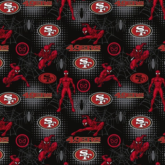 San Francisco 49ers and Spider Man fabric in various lengths
