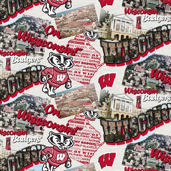 Wisconsin Badgers Fabric