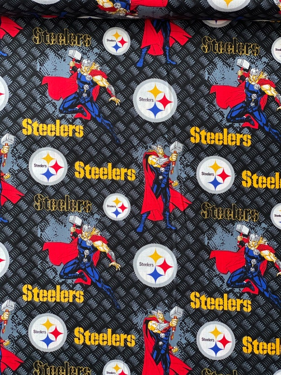 Pittsburgh Steelers and Marvel Thor fabric in various lengths