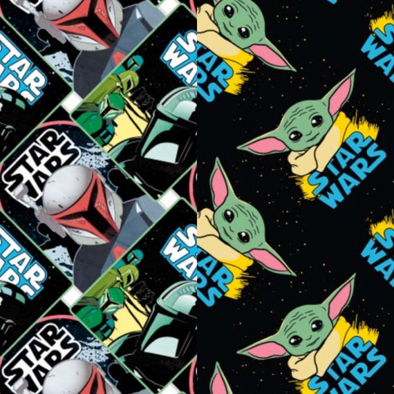 Star Wars Mandalorian or Baby Yoda Fabric