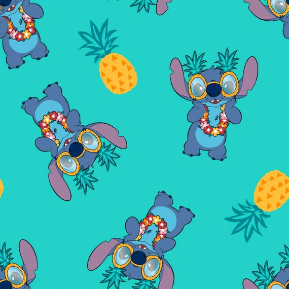 Disney Lilo & Stitch Pineapple Fabric by various lengths