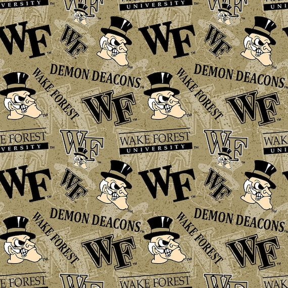 Wake Forest Demon Deacons Fabric