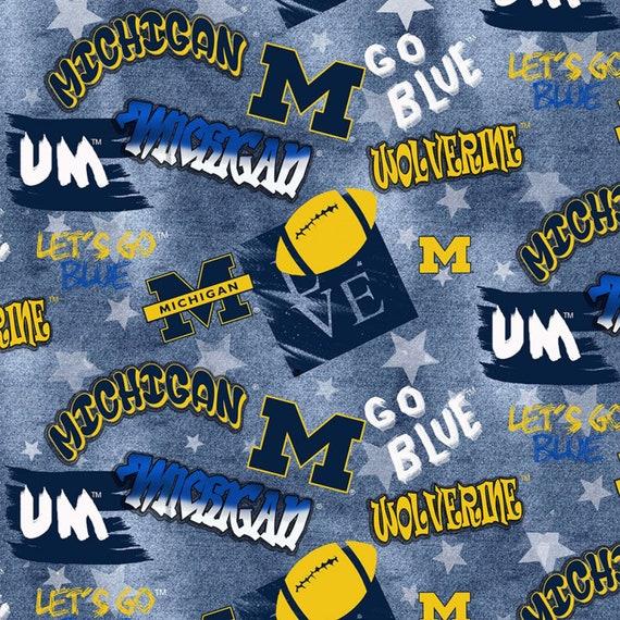 Michigan Wolverines Graffiti Fabric