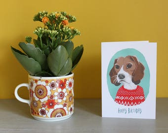 Beagle Happy Birthday Greeting Card