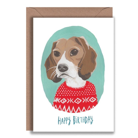 A6 Blank Cards pack of 6 Basset Hound Dog Notelets
