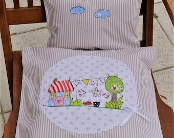 Kissen und Decke für Puppenbett Bettzeug Puppenbettwäsche Kätzchen