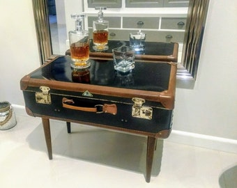 Awesome Antique Suitcase Table Old Suitcase Vintage Suitcase Vintage Decoration  Travel Case Mod Suitcase Retro Travel Luggage Old School * Free Air