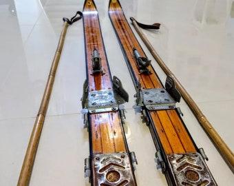Wooden Skis Etsy