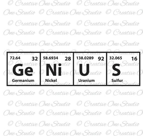 Genius periodic table elements svg dxf eps studio3 pdf etsy zoom urtaz Image collections
