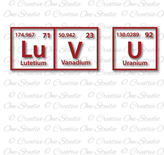 Luv u periodic table elements love you svg dxf eps studio3 pdf luv u periodic table elements love you svg dxf eps studio3 pdf png jpg silhouette cameo cricut cut files vinyl scrapbooking from creativeonestudio urtaz Images