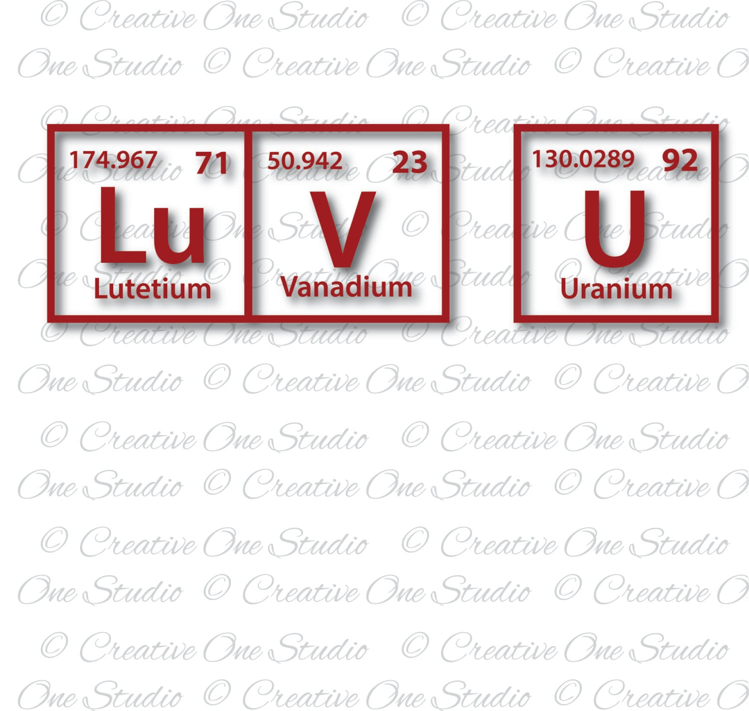Luv u periodic table elements love you svg dxf eps studio3 pdf this is a digital file urtaz Images