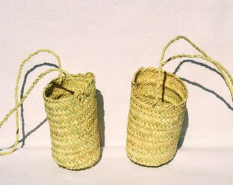 Moroccan basket, wicker basket, basket of Morocco (2 PIECES)