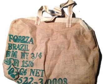 Burlap sack - recycled coffee bag