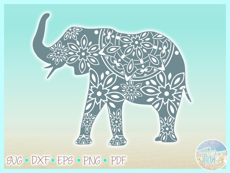 Download Elephant Mandala SVG Files for Cricut Silhouette Dxf Eps ...