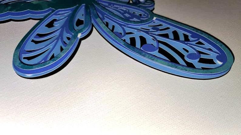 Download 3D Layered Design Dragonfly Mandala SVG file Multi Layered ...