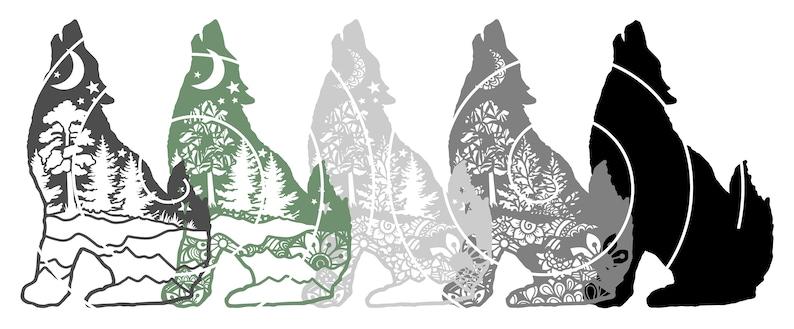 Download 3D Layered Design Wolf Mandala SVG file Multi Layered | Etsy
