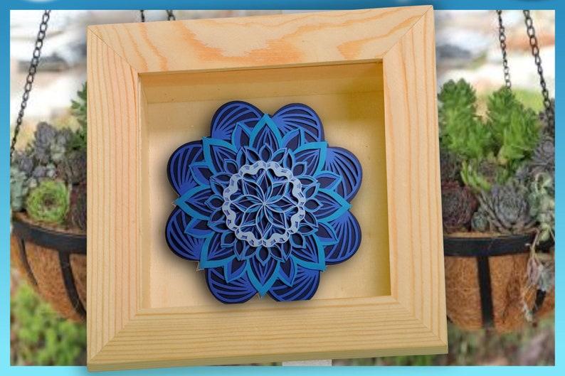 Download Easy 3D Layered Design Floral Mandala SVG file Multi | Etsy