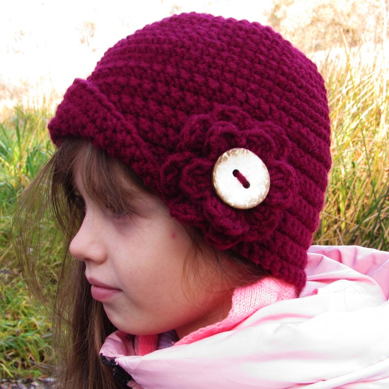 2143712b74f Hat crocheting pattern warm cap beanie hat for toddlers