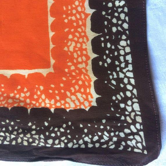 30s 40s vintage silk crepe lady's hankie. Vibrant… - image 4