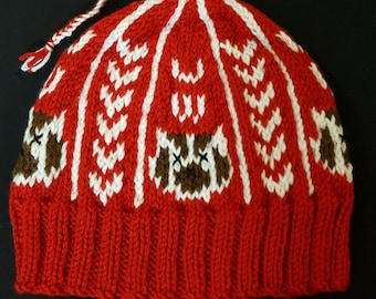 1960c34a8ba Wisconsin Badgers Winter Hat - Hand Knit