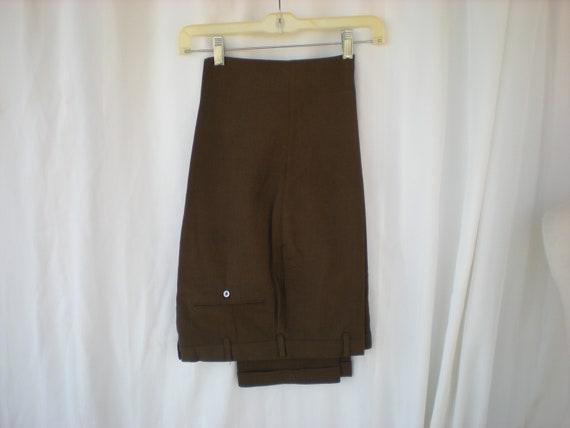 Vintage 60's Levi's Sta-Prest Trousers Brown Slack