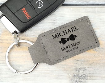 Personalized Keychain | Groomsmen | Best Man | Bridesmaid | Wedding Gift | Car Keys | Bow Tie | Father's day Gift | Mothers Day