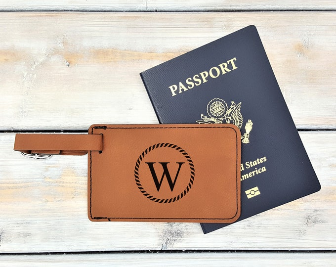 Personalized Luggage Tag | Monogrammed | Personalized Gift | Travel | Wedding | Honeymoon | Adventure | Bag Tag | Laser Engraved