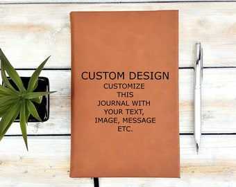 Personalized Journal | Notebook | Monogrammed | Custom Design | Your Text | Graduation Gift | Engraved | Mothers Day | Fathers Day