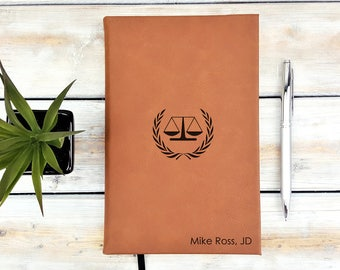 Personalized Journal | Notebook | Monogrammed | Personalized Gift | Attorney | Lawyer | Law | Justice | Graduation Gift | Laser Engraved